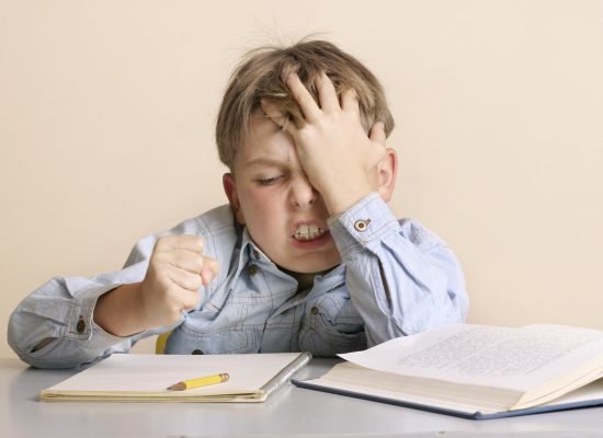 Frustration with homework or schoolwork or child with learning difficulties.